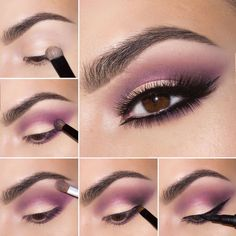 Tutorial on Smokey purple eye makeup tutorial by Maryam M by Vanessa Lopez. Check out more Makeup on Bellashoot. Purple Eye Makeup, Purple Eyeshadow, Love Makeup, Simple Makeup, Makeup Inspo, Eyeshadow Makeup, Makeup Inspiration, Makeup Tips, Beauty Makeup