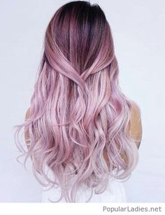 Black to pink hair color