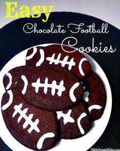 Easy Chocolate Football Cookies by Niki's Sweet Side