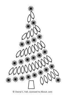 Christmas Tree Embroidery Pattern - Free Embroidered Christmas Tree Pattern
