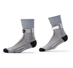 Show now for Sensoria Fitness smart Socks infused with textile pressure sensors. Sensoria is your virtual running coach and monitor your running form, cadence, pace, steps, distance, speed, calories burnt and much more in real-time