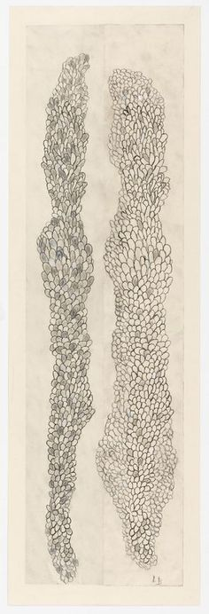 Louise Bourgeois, Tous les deux (Swaying), 2006 Etching, ink, gouache and pencil on paper 59 x 19 in: