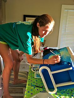 For all you sorority girls out there: How to paint a cooler!