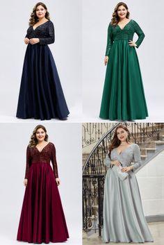 #plussizedress#plussize#dress#maxidress#sequindress#satindress Plus Size Evening Gown, Sexy Evening Dress, Evening Gowns, Muslimah Wedding Dress, Ever Pretty, Bridesmaid Dresses, Wedding Dresses, Plus Size Dresses, Party Dress