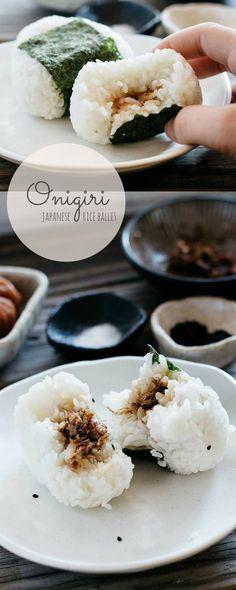 Japanese rice balls Onigiri. Not hard at all! I eyeball the bonito filling.