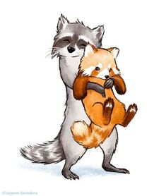 Idea panda instead of racoon Cute Animal Drawings, Animal Sketches, Cute Drawings, Red Panda Cute, Panda Drawing, Raccoon Drawing, Raccoon Art, Panda Art, Pics Art