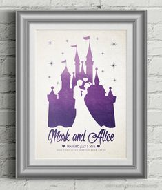 Disney Wedding Poster Gift / Personalised by GraphicsByLauren