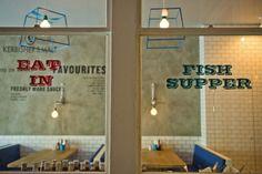 Kerbisher & Malt Fish & Chips by Alexander Waterworth Interiors, London…
