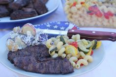 4th of July gourmet barbeque menu with grocery shopping list