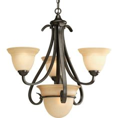Progress Lighting Torino Collection 4-Light Forged Bronze Chandelier-P4415-77 - The Home Depot