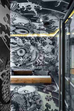 Венсант COSTE разработал японский ресторан в Франции с мотивами татуировки якудза