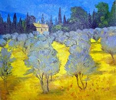By Vincent Van Gogh (I love his vivid use of color and how it captures mood and atmosphere)