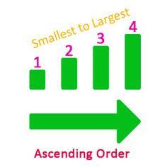 Ascending & Descending Order | Teaching activities for ...