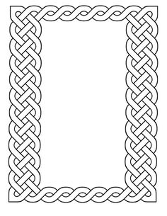 Printable Celtic Frames
