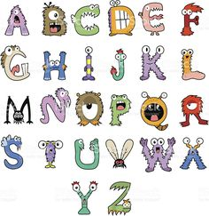 Monster Alphabet royalty-free stock vector art