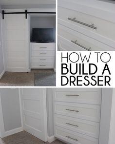 How to Build a Built-In Dresser.. door over closet/or tv love it