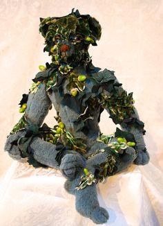 Green Man Created by Nicole Woodward pic-nic-bears Soft Sculpture, Sculptures, Green Man, Bears, Picnic, Create, Artist, Artists, Picnics