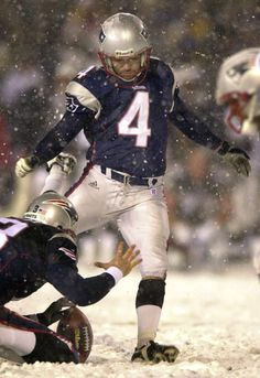 Vinatieri for the win vs Raiders. Greatest kick in NFL history Nfl History, New England Patriots, Raiders, Motorcycle Jacket, Boston, Kicks, To Go, In This Moment, Sports
