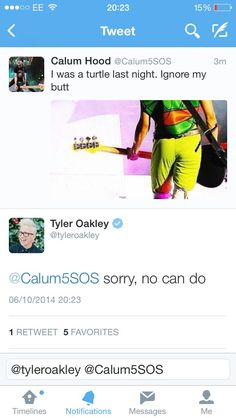 I DONT KNOW WHATS BETTER, CALUM POSTED THIS OR TYLER JUST SLAYED IT>>> me too though Tyler