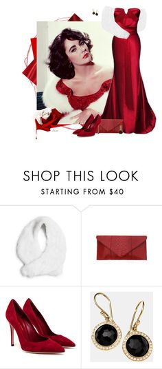 """""""Elizabeth Taylor"""" by lmm2nd ❤ liked on Polyvore featuring Elizabeth Taylor, GUESS by Marciano, Alexander McQueen, Gianvito Rossi, Ippolita and Lancôme"""