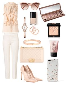 """""""#chic"""" by srny98 ❤ liked on Polyvore featuring Chloé, ESCADA, Chanel, Alexander McQueen, Kate Spade, Victoria Beckham, DKNY, Michael Kors, NARS Cosmetics and Givenchy"""