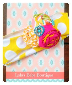 Baby Girl Headbands..Baby Headbands..Jersey by LolasBebeBowtique