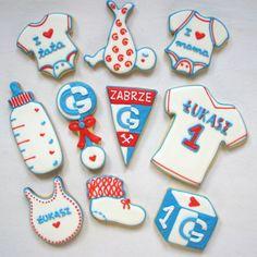 little baby sport fan cookies
