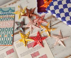 origami star garland kit from Cambridge Imprint