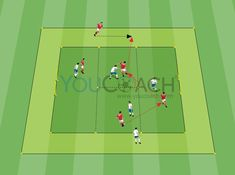 A thematic match that trains the position in the pitch and the team's passing skills