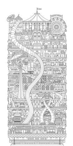 Original letterpress print Vertical Carnival 1st by allisonrae