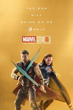 Thor and Loki marvel 10 years Marvel Universe, Marvel Dc Comics, Marvel Heroes, Marvel Avengers, Captain Marvel, Captain America, Marvel Characters, Marvel Movies, Dc Memes