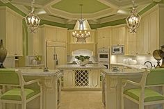 Green Painted Kitchens Design, Pictures, Remodel, Decor and Ideas