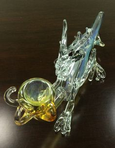 Dragon Bowl fumed hand pipe by ChaChaChaGlass on Etsy
