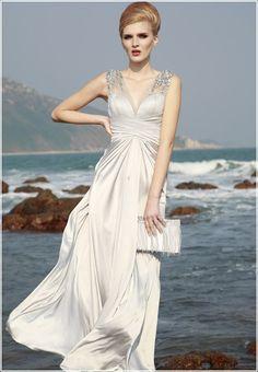 Silver elegant long dress