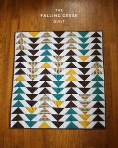 Falling Geese Baby Quilt by michaelannn, via Flickr