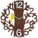 Karlsson Wall Clock Woodpecker - Plastic Brown