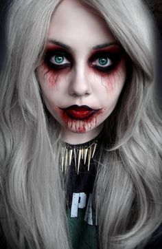 sexy zombie makeup. i don't think I would do anyethign with the lips, but the eyes look really cool!