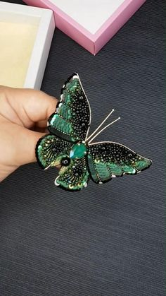 Butterfly Brooch Beaded Embroidered gift for girlfriend Handmade Decoration Beaded brooch Art beads Brooch flying brooch pin Accessories birthday woman gift rainbow butterfly tropical butterfly Copy all to clipboard Bead Jewellery, Resin Jewelry, Jewelry Gifts, Beaded Jewelry, Rainbow Butterfly, Green Butterfly, Pearl Decorations, Handmade Decorations, Flower Embroidery Designs