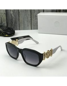 Versace AAA Quality Sunglasses #691027 Versace Jacket, Versace Shoes, Versace Slippers, Gucci Mens Sneakers, Versace Glasses, Versace Fashion, Fashion Slippers, Hip Hop Outfits, Casual Shoes