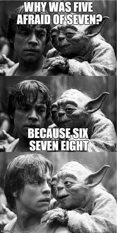 Sports Discover Funny pictures about Yoda& Humor. Oh and cool pics about Yoda& Humor. Also Yoda& Humor photos. Star Wars Meme Just For Laughs Geeks Laugh Out Loud The Funny Daily Funny I Laughed Haha Laughter Star Wars Witze, Star Wars Meme, Funny Jokes, Silly Jokes, Yoda Funny, Dad Jokes, Funniest Memes, Funny Math, Disney Films