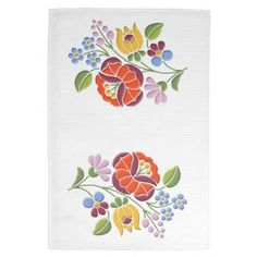 Kalocsai Embroidery Hungarian Folk Art Kitchen Towel