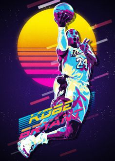 Kobe Retro Awesome posters printed on metal<br> See amazing artworks of Displate artists printed on metal. Easy mounting, no power tools needed. Kobe Bryant Lakers, Fox Sport, Poster Sport, Kobe Bryant Michael Jordan, Kobe Bryant Family, Kobe Bryant Pictures, Kobe Bryant Black Mamba, Nba Pictures, Basketball Photography