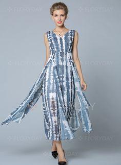 f833f0ea191a39 Dresses -  70.99 - Polyester Stripe Sleeveless Mid-Calf Casual Dresses  (1955109241) Damenkleider