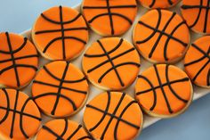 No time to cook? Pop in some slice-n'-bake cookies et voila! Perfectly sweet basketball cookies for your March Madness party.