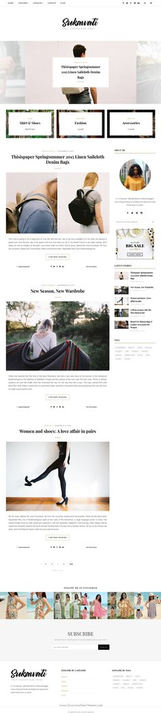 Sukawati is a clean styled WordPress blog Theme for lifestyle bloggers, fashion bloggers, food blogger, #traveler who love to #blog and creative folks who love to #write.