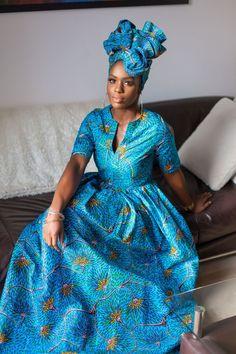 African Print Ronga Maxi Dress