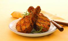 Côtelettes de porc grillées au chipotle et à l'érable