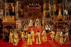 Visions of the Romanovs - The coronation of Alexander III and Empress Maria Feodorovna, 1883