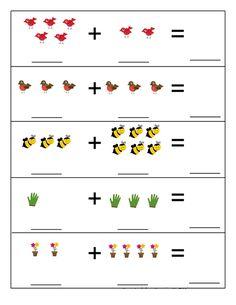 Spring Activities for Kids Numbers Preschool, Preschool Printables, Preschool Learning, Dyslexia Activities, Kindergarten Math Worksheets, Spring Activities, Activities For Kids, Montessori Math, Math For Kids