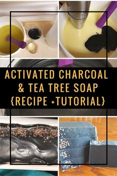 Activated Charcoal and Tea Tree Soap Recipe + Written Tutorial. Cold Process Soapmaking (scheduled via http://www.tailwindapp.com?utm_source=pinterest&utm_medium=twpin)